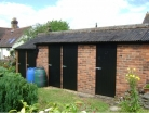 Rear storage sheds after work